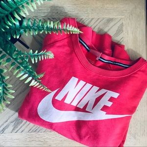 NIKE Bubblegum Pink Sweatshirt W/ Pockets